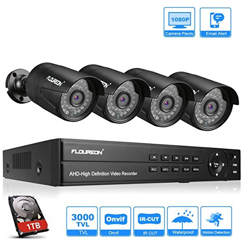 FLOUREON DVR Video Kit vigilancia 8CH 1080N AHD DVR