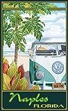 Northwest Art Mall ed-5864STH Neapel Florida Truck Hula Print von Künstler Evelyn Jenkins Drew, 27,9x 43,2cm