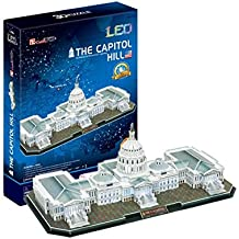 3D Puzzle The U.S. Capitol Hill con LED