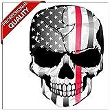 SkinoEu 2 x Autocollant Stickers Tête De Mort Crâne Êtats-Unis Drapeau USA Voiture Camion Fenêtre Porte Auto Moto Vélo Tuning B 42