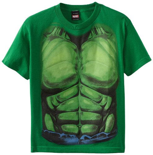 The Incredible Hulk Smash Costume Torso Youth T-Shirt, Multicoloured, L