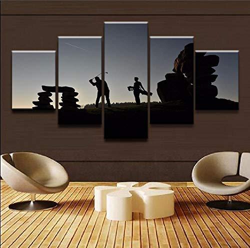 Bzdmly 5 Pieces Peinture sur Toile Art Mural HD Prints Pictures Affiches modulaires décoratives...