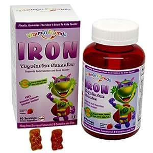 Vitamin Friends Iron Diet Supplement, 60 Count