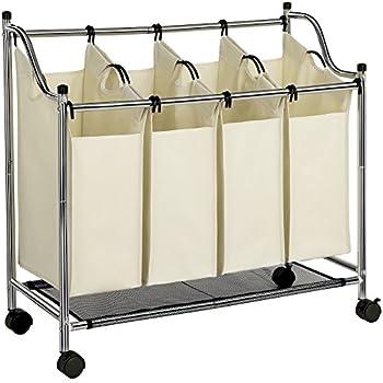 Wäschewagen auf Rollen mit 3 Fächern: Amazon.de: Küche
