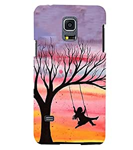 PRINTSWAG PLAYING GIRL Designer Back Cover Case for SAMSUNG GALAXY S5 MINI