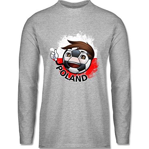 EM 2016 - Frankreich - Fußballjunge Polen - Longsleeve / langärmeliges T- Shirt für Herren