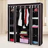 #8: Aventure Foldable Wardrobe Cupboard Folding WARDROVBE ALMIRAH A3 Non Woven Fabric Cloth Brown
