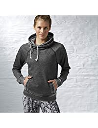 Sudadera para mujer y Cowl Solid, color negro, tamaño extra-small