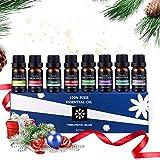 Aromatherapie Ätherische Öle Set 8x10ml ACTOPP Rein Aromatheraphie Duftöle Set für Diffuser Lufterfrischer Eukalyptus Pfefferminze Lavendel Orange Zitrone Rosmarin Ylang Jasmin Weihnachten Geschenk