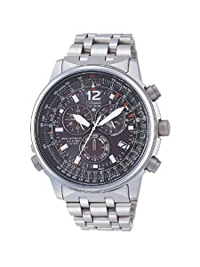 Citizen AS4050-51E - Reloj cronógrafo de cuarzo para hombre, correa de titanio color plateado de Citizen