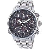 Citizen AS4050-51E - Reloj cronógrafo de cuarzo para hombre, correa de titanio color plateado