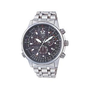 Citizen AS4050-51E - Reloj cronógrafo Ecodrive para hombre, correa de titanio color plateado 12