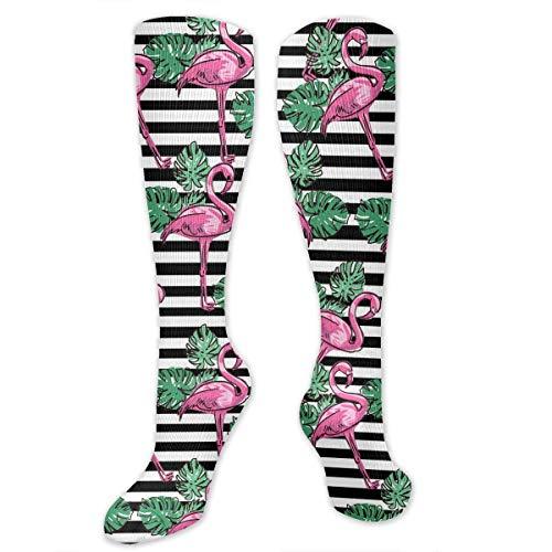 ouyjian Flamingo (7) Muster Männer & Frauen Kniehohe Sport Compression Lange Socke Für Baseball Arbeiten