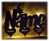 Schlummerlicht24 3d Herz Mond Led Bild Beleuchtung Baby-Geschenke Geburtstagsgeschenke für unter 5 4 3 2 1 Jahre Mit Namen und Geburtsdaten Baby Jungen Mädchen Kinder-Zimmer Geburt Taufe Kommunion