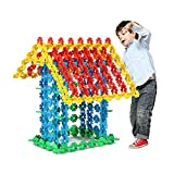 Flocken Schneeflocken Baustein Steckspiel DIY Bausteine Spielzeug Steckblumen Stecki Plastik Discs Puzzle Spiele Brain Flakes Plastik Disc Set Für Kinder (720 PCS)