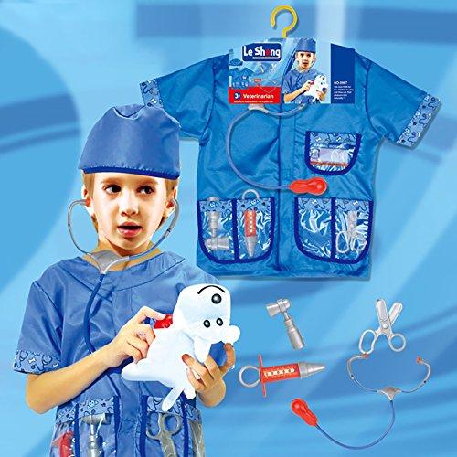 EZSTAX Kinder Kostüm Rollen Spiel Costume für Halloween Party Karneval,Arzt