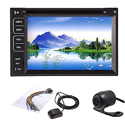 2015 New 6.2'' 2 DIN Car DVD Player Radio/BT/Stereo/Audio GPS Navigation Car PC SAT NAV HD:800*480 LCD Win 8 Free GPS Antenna+ Map+Review Camera