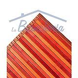 tex family Tappeto Cucina in Legno Bamboo Arancio SFUMATO Tutte Le Misure - Cm. 50x100