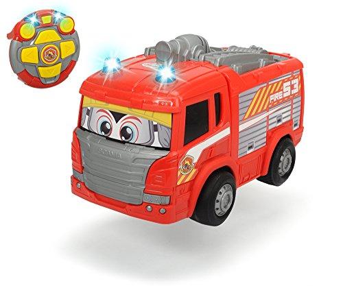 feuerwehrauto Dickie Toys 203814031 - RC Happy Scania Fire Engine, funkferngesteuertes Feuerwehrauto, für Kleinkinder ab 2 Jahren, 27 cm