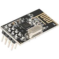 Akozon 4pcs NRF24L01 + 2.4GHz Antena Transceptor Inalámbrico Módulo de RF 1.9~3.6V Transmisor de RF Inalámbrico Serie Serial Bluetooth Módulo de Comunicación Pass-Through