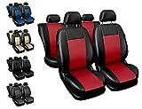 Sitzbezüge Auto universal Set Autositzbezüge Schonbezüge schwarz-rot Vordersitze und Rücksitze mit Airbag System - Comfort