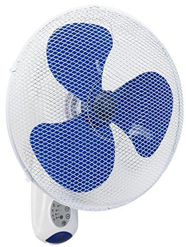 Bestron AWF40REM la Pared del Ventilador con Control Remoto y Reloj, Blanco