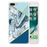 Miagon Silicone Marmo Custodia per iPhone 7 Plus / 8 Plus,Retro Ultra Sottile Flessibile TPU Antiurto Antishock Protettiva Case con Marble Modello,Ruggine