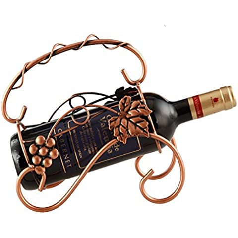 Finitura in acciaio inossidabile vino Rack supporto a pavimento contiene?elegante, minimalista retrò in ferro battuto rack vino,Bronzo