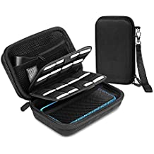 Bestico Starter Case for New Nintendo 2DS XL, Include Carrying Case with 16 Games Slots for Nintendo DS (New 2DS XL/New 3DS XL/3DS/3DS XL/New 3DS) + Carry Strap (Case)