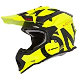 O'Neal 2Series RL Slick Motocross Helm MX Enduro Gelände Quad Cross Motorrad Bike Schutz, 0200-SAdult, Farbe Neon Gelb, Größe L