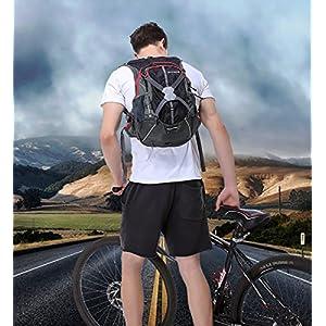 Mochilas de Ciclismo, Mochila Bicicleta ISIYINER 18L Mochila Trekking Ultraligero Impermeable Mochilas con Cubierta de Lluvia para Viaje Senderismo Montaña Moto puede llevar un Casco