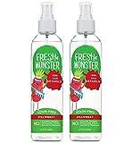 Fresh Monster Spray districante per bambini, 2Count, per capelli da fini a normali fragola 2 Count 8 once fragola