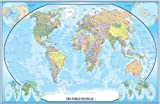 World Classic Wall Karte Poster Wandbild 24x36 Paper Folded