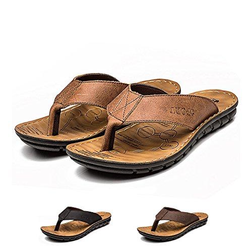 INFLATION Herren Sandalen Herren Pantoletten Essential Beach Sandal Zehentrenner Junge Pantoletten Flip Flop Hausschuhe für Männer Classic Clogs Hellbraun 40 EU
