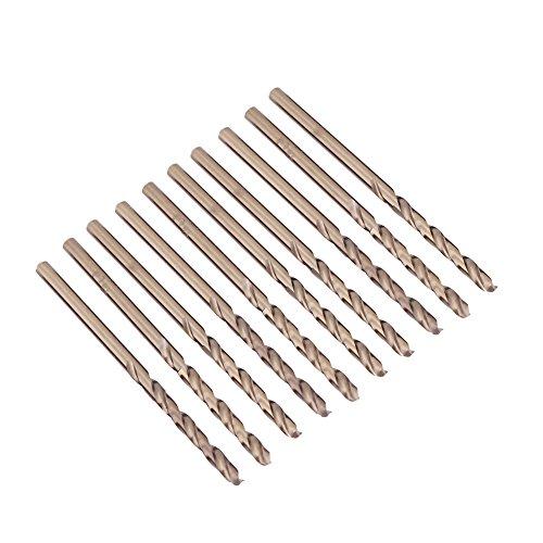 10 brocas de cobalto M35 HSS HSS-CO para taladro de 1 a 5 mm para taladrar en acero inoxidable