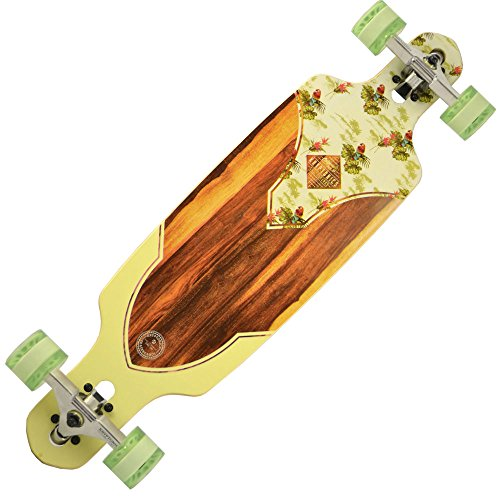 Kryptonics CALIFORNIA DT 36 Longboard bird of paradise