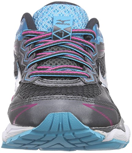 Mizuno Wave Ultima 7, Chaussures de course femme Multicolore - Mehrfarbig (DarkShadow/Silver/Atoll 03)
