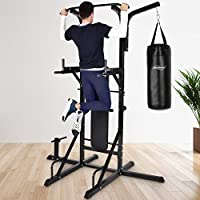 Physionics - Multiestación con el banco de musculación y saco de arena, máxima capacidad de soporte 220 kg