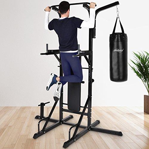 Physionics Fitnessstation Multistation Trainingsstation mit Hantelbank und Sandsack max....