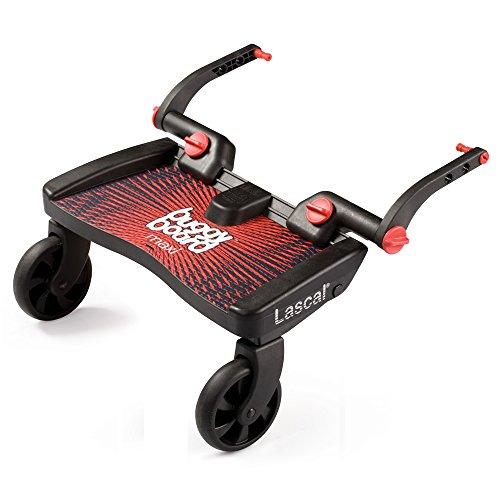 Lascal 2750 - BuggyBoard Maxi - Tabla con ruedas para carrito, color rojo y negro