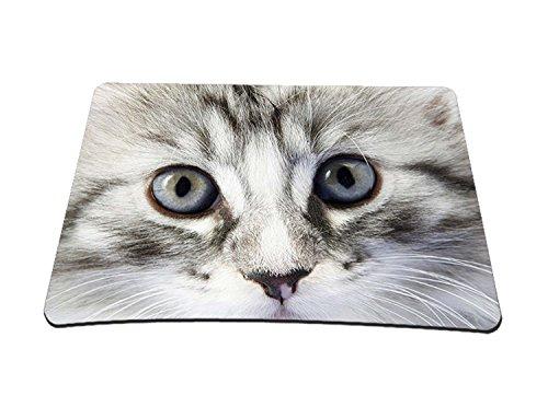 Alfombrilla para ratón (para juegos y grafismo, compatible con todo tipo de ratón), varios diseños ojos de gato medio