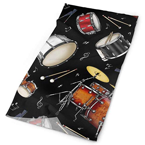 Unisex Sports Variety Scarf Head Scarf Bandanas Mask Rock Drum Stand 9.8 X 19.5 inch