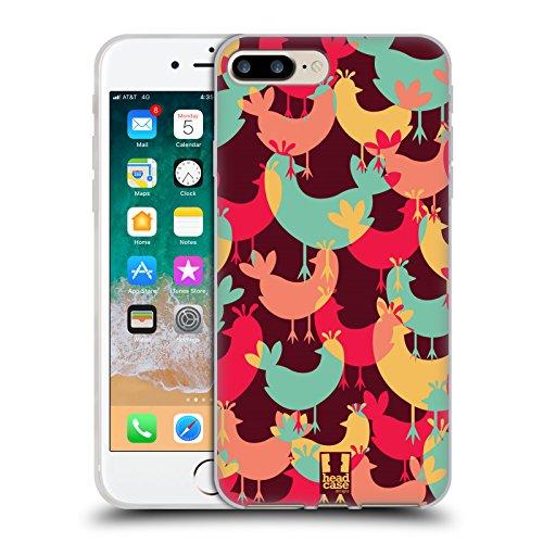 Head Case Designs Huhn Eingefärbte Tieren Soft Gel Huelle kompatibel mit iPhone 7 Plus/iPhone 8 Plus -
