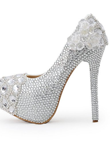WSS 2016 Chaussures de mariage-Argent-Mariage / Habillé / Soirée & Evénement-Talons-Talons-Homme 5in & over-us8.5 / eu39 / uk6.5 / cn40