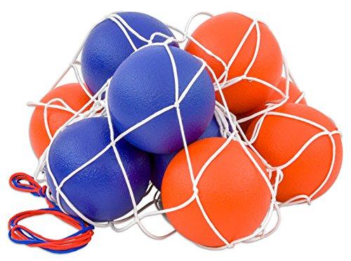 Betzold 100149 - Softball-Set - 10 Schaumstoffbälle im Ballnetz, 16 cm Spielball, wasserabweisend -