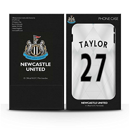 Offiziell Newcastle United FC Hülle / Gel TPU Case für Apple iPhone 4/4S / Pack 29pcs Muster / NUFC Trikot Away 15/16 Kollektion Taylor