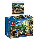 Lego CITY 2er Set 60156 30355 Dschungel-Buggy + Dschungel Quad