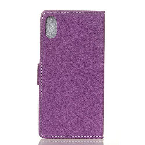iPhone X Coque, Voguecase Étui en cuir synthétique chic avec fonction support pratique pour Apple iPhone X (Motif rétro-Rose)de Gratuit stylet l'écran aléatoire universelle Motif Croix-Violet