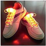 Matériau robuste Lacets LED fluorescents élégants pour les fêtes/course à pied/marche/mariage/concert- (rouge)