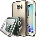 Galaxy S6 Edge Coque - Ringke FUSION ***Tous les Nouveaux Capuchon Anti-Poussière & Chute Protection*** [SMOKE BLACK] Absorption des Chocs Pare-Chocs dur Étui avec Gratuitement Arrière Film pour Samsung Galaxy S6 Edge - Eco/DIY Paquete